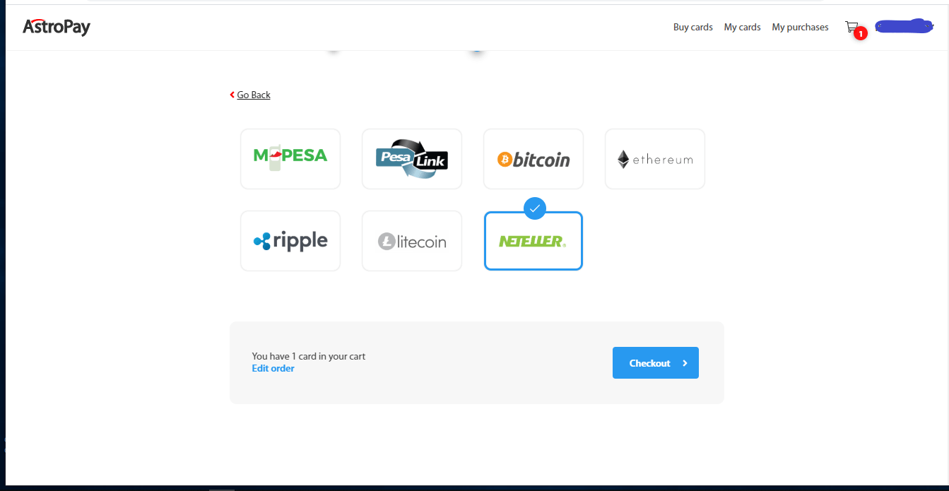 Astropay wallet