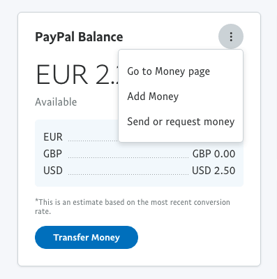 Funding PayPal account