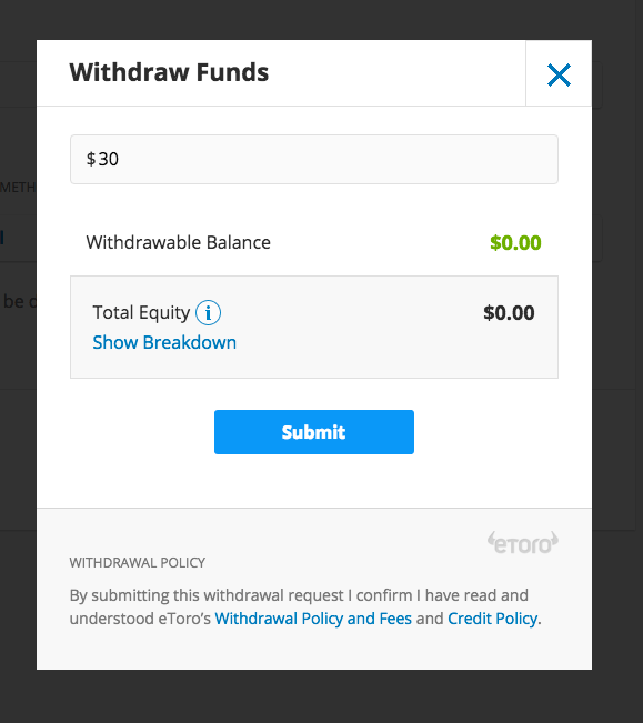 eToro PayPal withdrawal