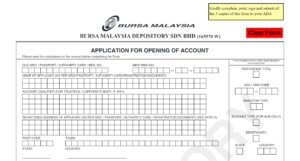CDS Account Application to Buy Stocks in Malaysia