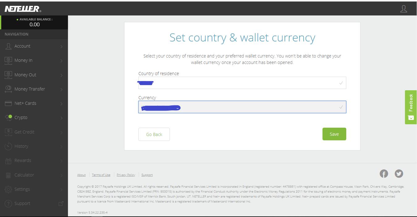 Neteller wallet New Zealand