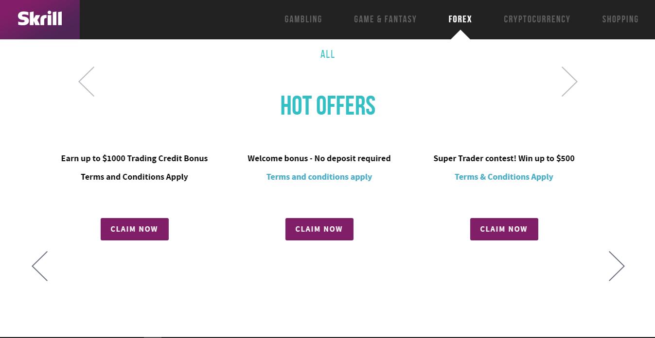 Skrill Offers