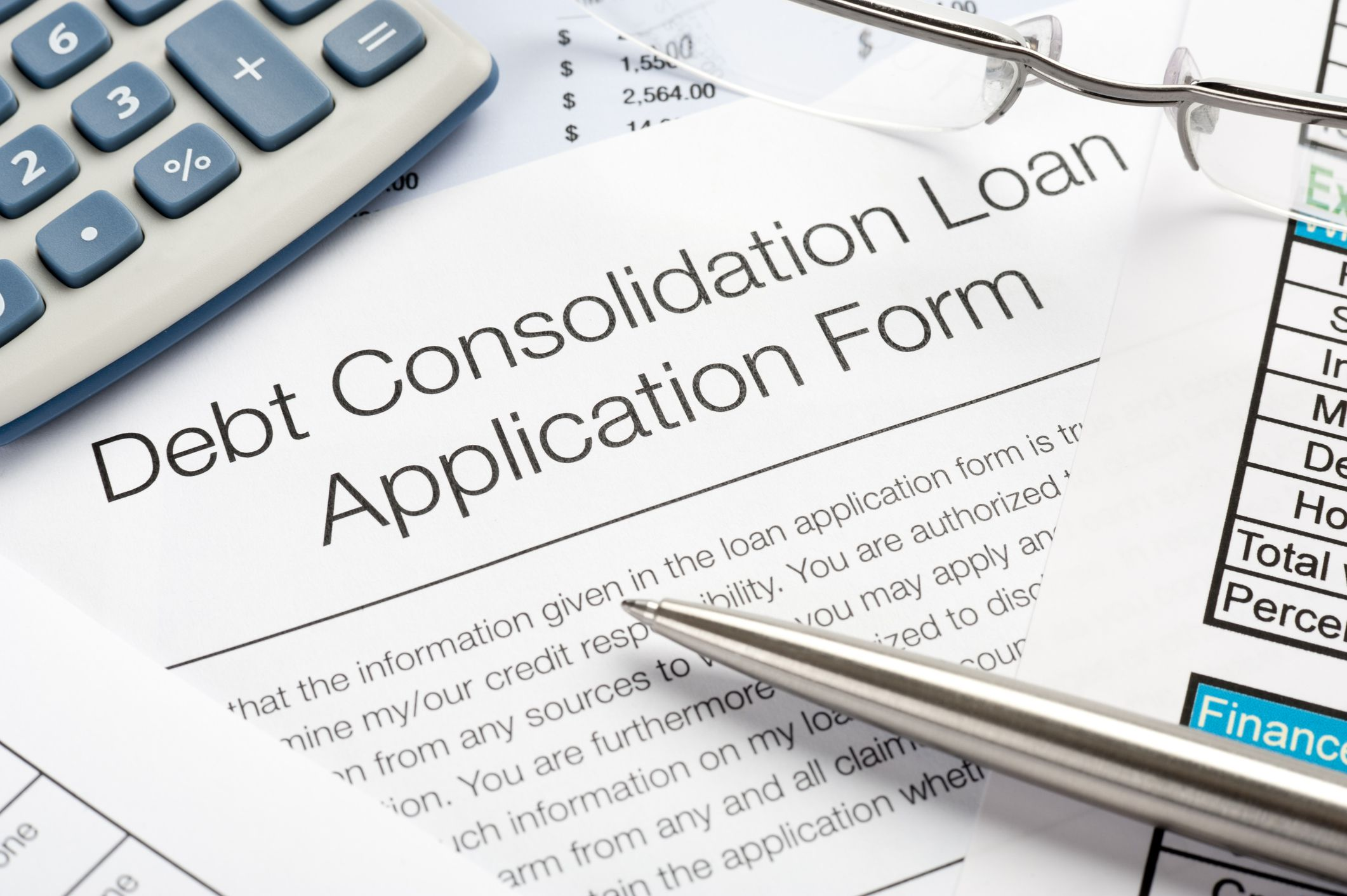 debt consolidation form