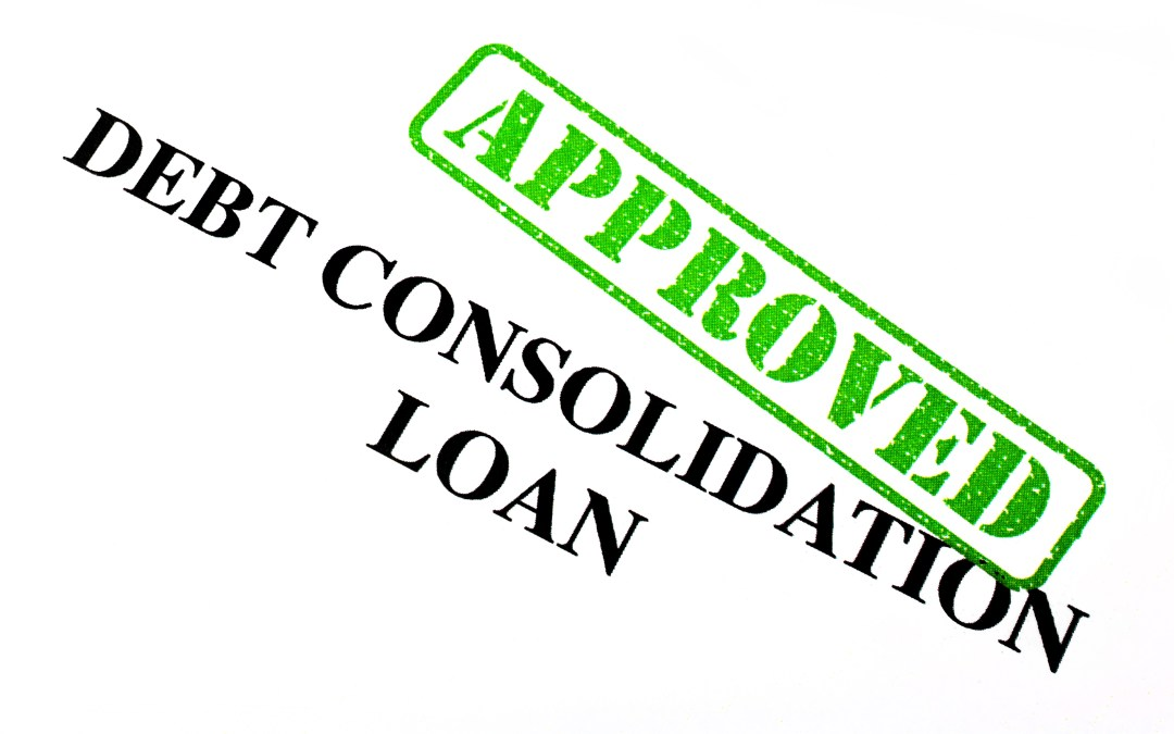 Debt consolidation approved stamp