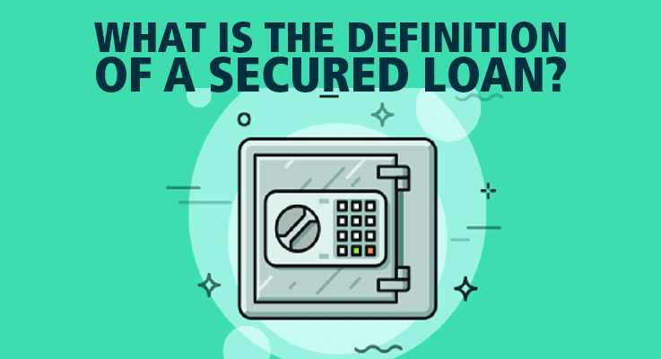 illustration of a safe illustrating security loans