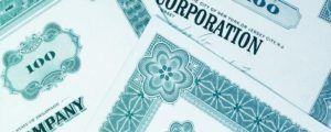 Illustration of corporate bond papers