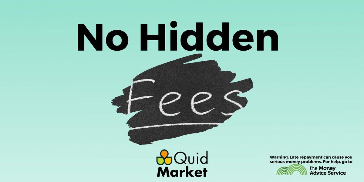 The No Hidden Fees claim on Quid Market website