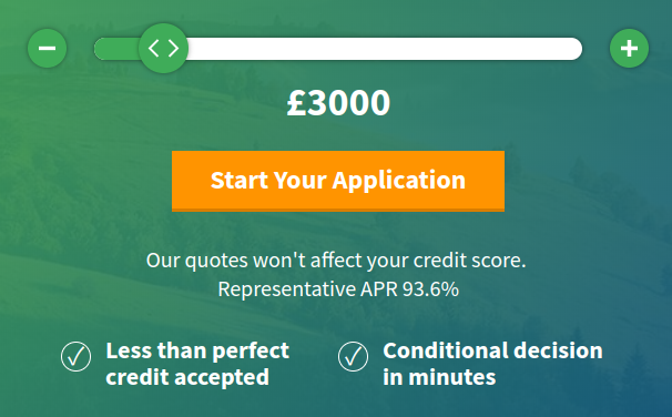 EveryDay Loans application page