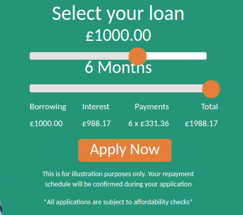 QuidMarket loan application page