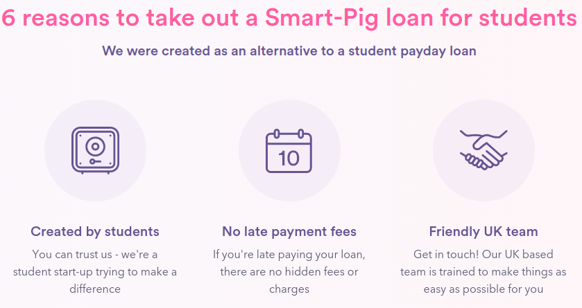 The 'Why Us' section of Smart Pig site