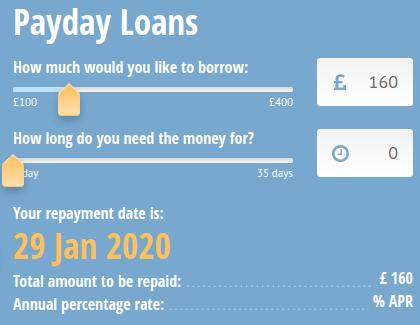 CashASAP loan application page