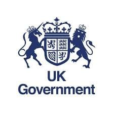 UK Government Gilts Bond logo; illustration of a lion and unicorn holding a crowned shield
