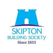 SKIPTON Building Society logo; with an illustration of a building and the SINCE 1953 mantra