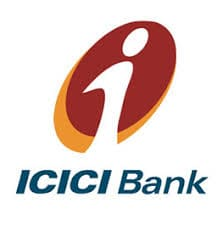 ICICI UK bank logo with a letter 'i' within a brown and yellow circle