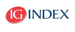 IG Index bond investment platform logo; letters IG in white within a red circle