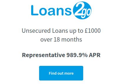 Loan 2 Go loan applicatin page