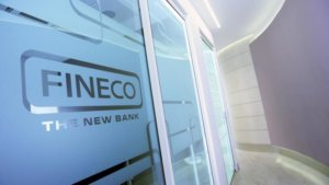 Inside a Fineco Bank office.