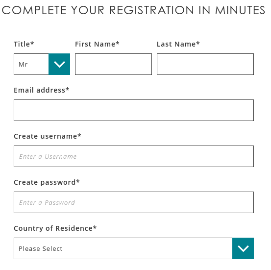 The Spreadex account application requires a credit check