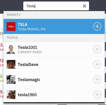Search Tesla shares eToro