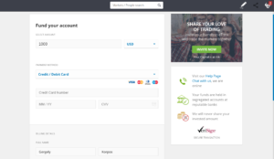 Deposit funds in your eToro account