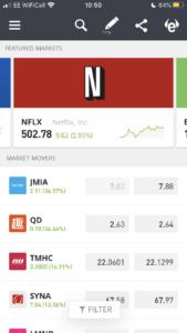 eToro trading app markets