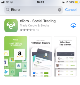 Download eToro mobile trading app