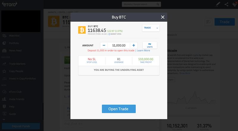 eToro day trading