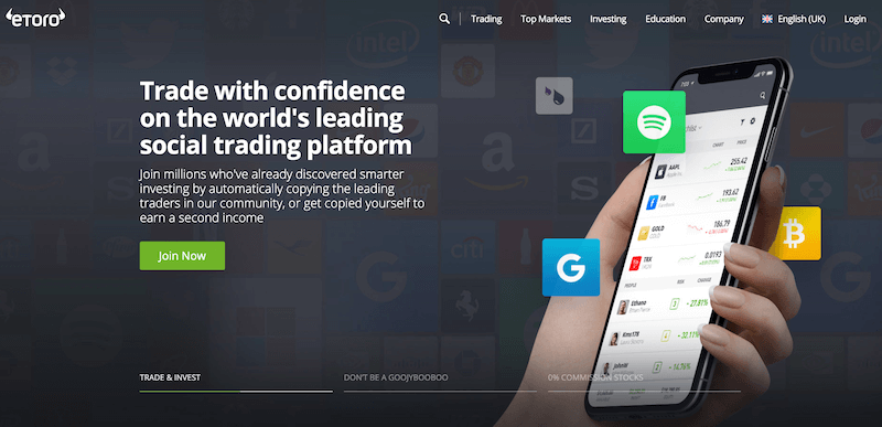 eToro Sign Up