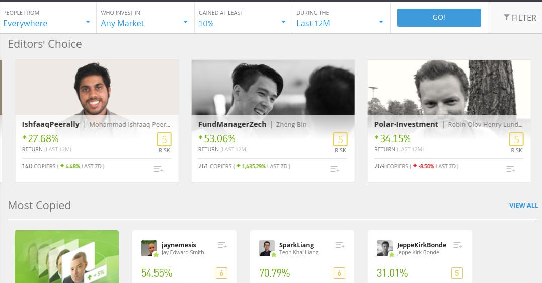Algorithmic trading on eToro
