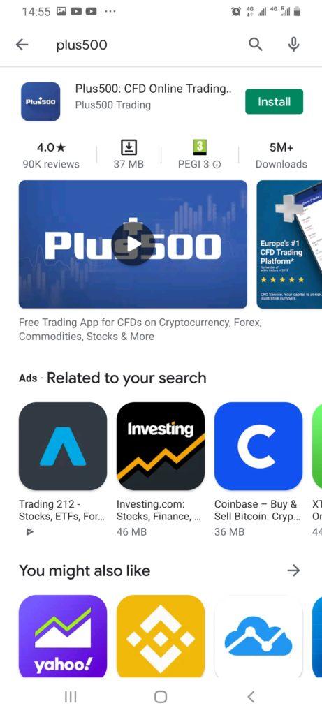 Plus500 forex app