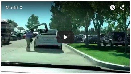 Tesla Motors Inc (TSLA) Model X Door Video