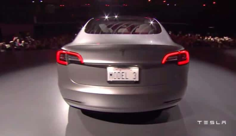 Tesla Motors Inc (NASDAQ:TSLA) Model 3
