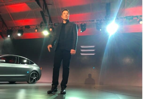 Elon Musk at Tesla Motors Inc (TSLA) Model 3 Unveil