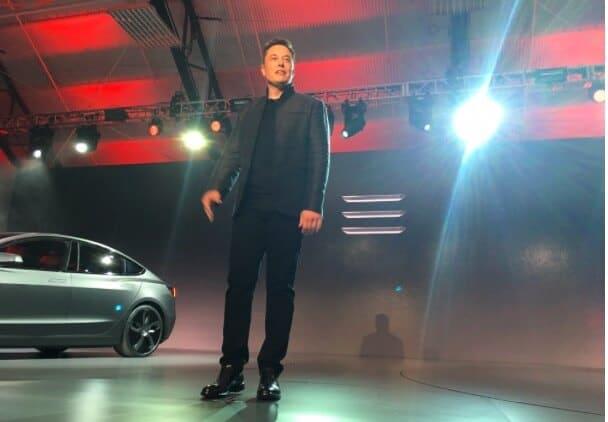 Elon Musk at Tesla Motors Inc (TSLA) Model 3 Unveil