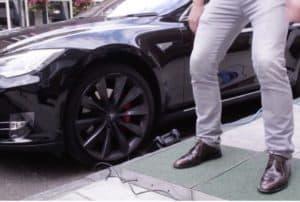 Tesla Motors Inc (NASDAQ:TSLA) Pedestrian Charging