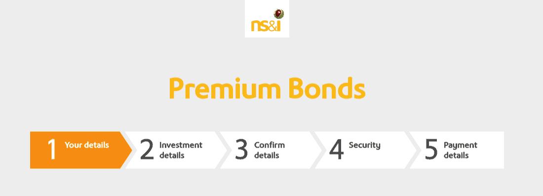 Premium Bonds registration page