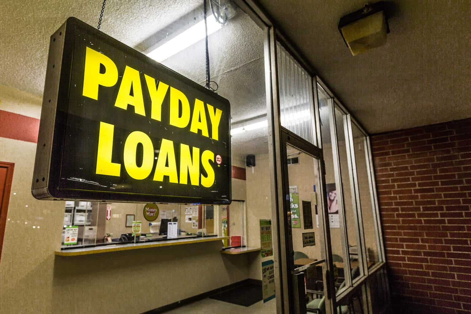 Payday Loans storefront - payday loans