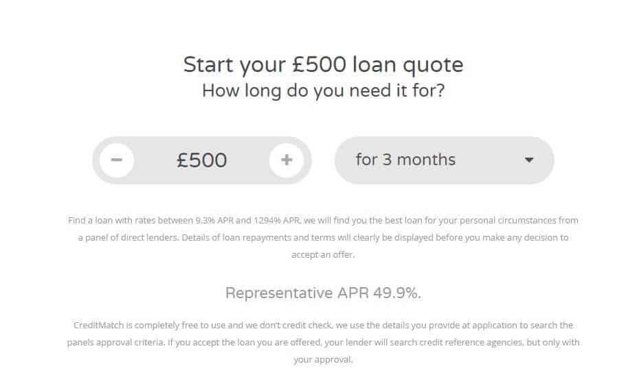 New Horizons loan application page