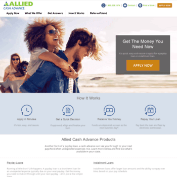 Allied Cash Advance Loan...