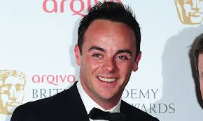English television presenter, producer, and actor Ant McPartlin