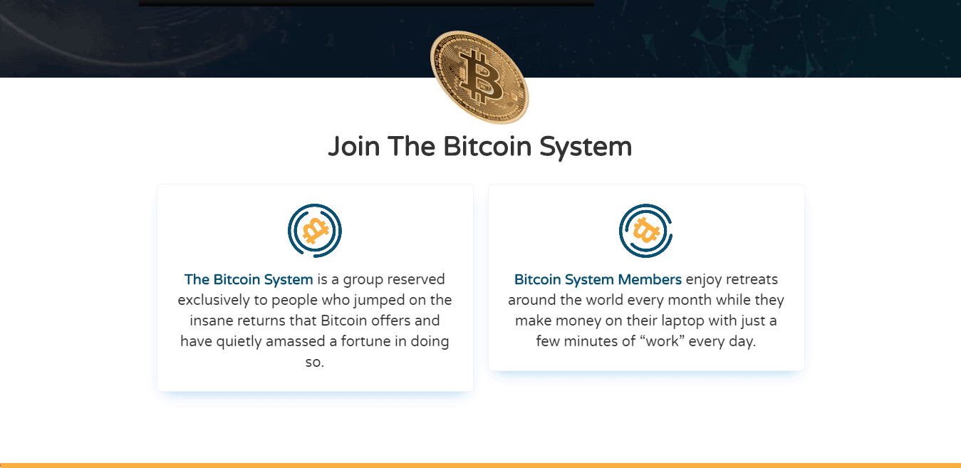 Bitcoin System Review : Bitcoin System Key Features