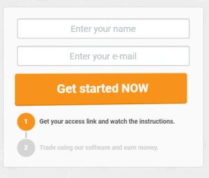 Cryptosoft Review: Cryptosoft registration page