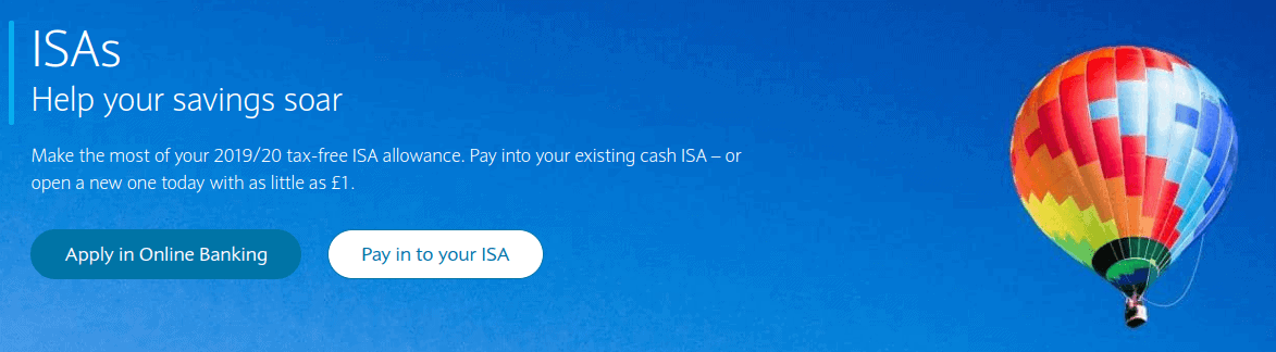 screengrab of the ISAs investment page of Barclauys bank