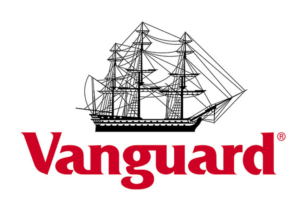 Vanguard company logo featuring ship with masts