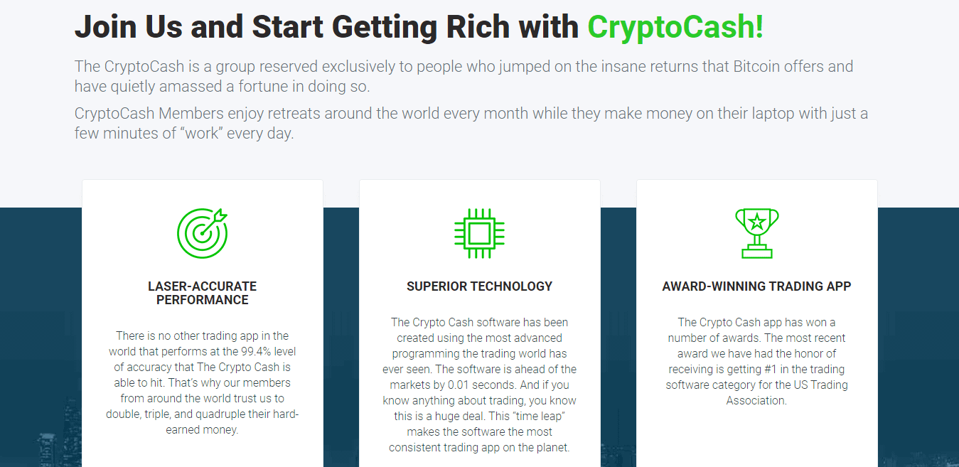 Crypto Cash Review : Crypto Cash key features