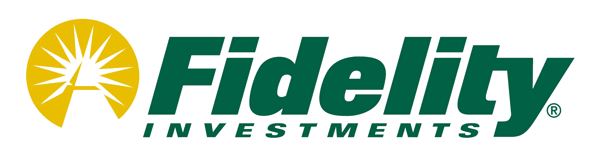 Fidelity Investments trader app logo in green preceded by a bright star