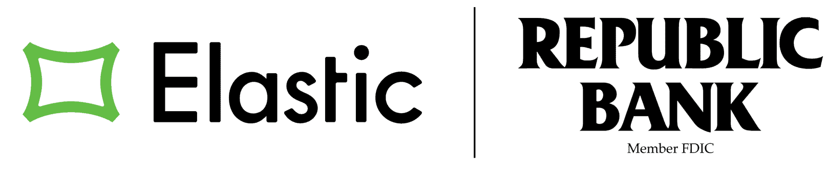 Elastic lender logo alongside the Republican bank Logo