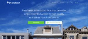 Screengrab of PeerStreet P2P website home page