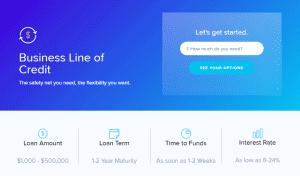 Lendio's business line of credit options