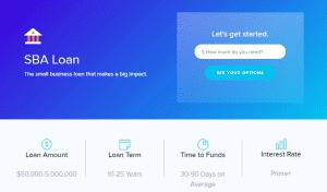 Lendio's SBA loan options